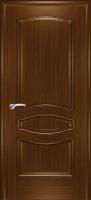 Дверь Наполеон-багет шпонированная межкомнатная глухая, орех