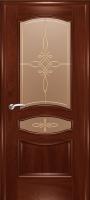 Дверь Наполеон-Элит шпонированная межкомнатная со стеклом 2, сапели