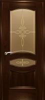 Дверь Наполеон-Элит шпонированная межкомнатная со стеклом 2, махагон