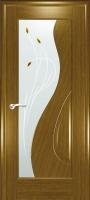 Дверь Сочи шпонированная межкомнатная со стеклом 1, дуб