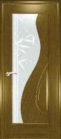 Дверь Сочи шпонированная межкомнатная со стеклом 2, дуб