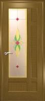 Дверь Лига шпонированная межкомнатная со стеклом 2, дуб