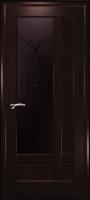 Дверь Лига шпонированная межкомнатная со стеклом 1, венге