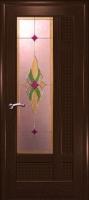 Дверь Лига шпонированная межкомнатная со стеклом 2, венге