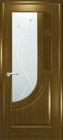 Дверь Уник шпонированная межкомнатная со стеклом 1, дуб