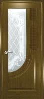 Дверь Уник шпонированная межкомнатная со стеклом 2, дуб