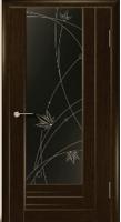 Дверь Галла шпонированная межкомнатная со стеклом 2, махагон