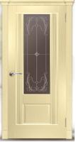 Дверь Пристиж 01 шпонированная межкомнатная со стеклом, беленый дуб