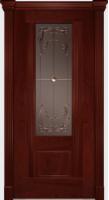 Дверь Пристиж 01 шпонированная межкомнатная со стеклом, сапели
