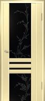 Дверь Шато шпонированная межкомнатная со стеклом 1, беленый дуб
