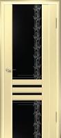 Дверь Шато шпонированная межкомнатная со стеклом 2, беленый дуб