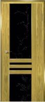 Дверь Шато шпонированная межкомнатная со стеклом 1, золотистый дуб