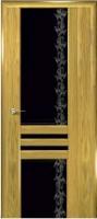 Дверь Шато шпонированная межкомнатная со стеклом 2, золотистый дуб