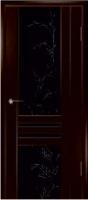 Дверь Шато шпонированная межкомнатная со стеклом 1, венге