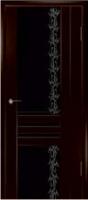 Дверь Шато шпонированная межкомнатная со стеклом 2, венге