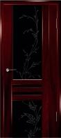 Дверь Шато шпонированная межкомнатная со стеклом 1, сапель
