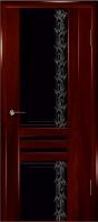 Дверь Шато шпонированная межкомнатная со стеклом 2, сапель