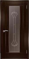 Дверь Кватро 00 шпонированная межкомнатная со стеклом 1, венге