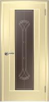 Дверь Кватро 00 шпонированная межкомнатная со стеклом 1, беленый дуб