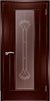 Дверь Кватро 00 шпонированная межкомнатная со стеклом 1, сапели