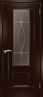 Дверь Модель 01 шпонированная межкомнатная со стеклом 1, венге