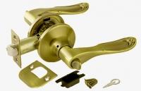 Ручка-защелка 6030РВ В KNOB цвет золото с фиксатором для межкомнатной двери