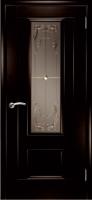 Дверь Модель 01 шпонированная межкомнатная со стеклом 3, венге