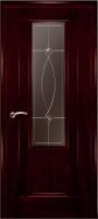 Дверь Модель 01 шпонированная межкомнатная со стеклом 1, сапели