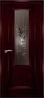 Дверь Модель 01 шпонированная межкомнатная со стеклом 2, сапели