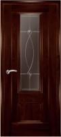 Дверь Модель 01 шпонированная межкомнатная со стеклом 1, махагон