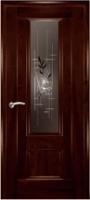 Дверь Модель 01 шпонированная межкомнатная со стеклом 2, махагон