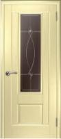 Дверь Модель 01 шпонированная межкомнатная со стеклом 1,беленый дуб
