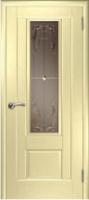 Дверь Модель 01 шпонированная межкомнатная со стеклом 3, беленый дуб
