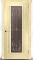 Дверь Престиж 00 шпонированная межкомнатная со стеклом , беленый дуб