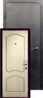 Входная металлическая дверь Виктория серебро, беленый дуб