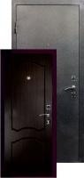 Входная металлическая дверь Виктория серебро, венге