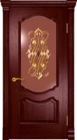 Дверь Маркиза Элит шпонированная межкомнатная со стеклом, сапели