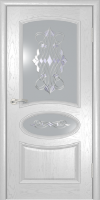 Дверь Оливия  шпонированная межкомнатная со стеклом, жемчуг В НАЛИЧИИ