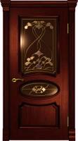 Дверь Оливия Лайт  шпонированная межкомнатная со стеклом, сапели