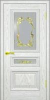 Дверь Темп 2  шпонированная межкомнатная со стеклом, жемчуг