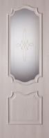 Дверь пвх  Пальмира межкомнатная со стеклом , дуб ивори
