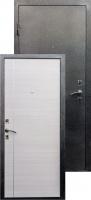 Входная металлическая дверь Виктория молдинг серебро, беленый дуб