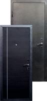 Входная металлическая дверь Виктория молдинг серебро, венге