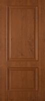 Дверь пвх  Дуэт межкомнатная глухая,  темный орех
