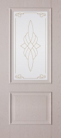 Дверь пвх  Дуэт межкомнатная со стеклом , дуб ивори