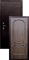 Входная металлическая дверь Пальмира , темный орех