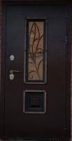 Входная металлическая дверь Аякс Ковка орех мини