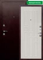 Входная металлическая дверь Гарда 8мм, белый ясень