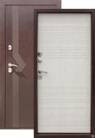 Входная металлическая дверь Изотерма 10см, беленый дуб